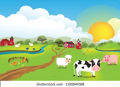 The Scenery vintage Farm