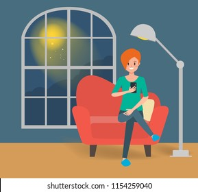 scenes of woman using a mobile phone on the sofa in the room. lifestyle people concept.