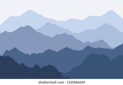 Scenic panorama with Mountains