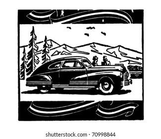 Scenic Vista - Retro Ad Art Illustration