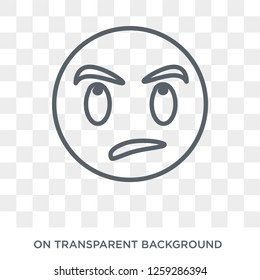Sceptic emoji icon. Sceptic emoji design concept from Emoji collection. Simple element vector illustration on transparent background.