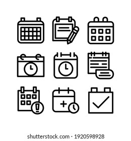 schedule icon or logo isolated sign symbol vector illustration - Collection of high quality black style vector icons