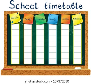 School Timetable Images, Stock Photos & Vectors | Shutterstock