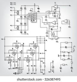 Circuit Diagram Symbols Images, Stock Photos & Vectors | Shutterstock