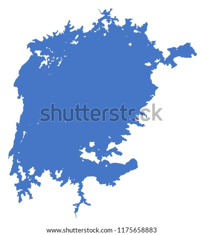 Map Of Africa Lake Victoria.Schematic Map Lake Victoria Africa Vector Stock Vector Royalty Free