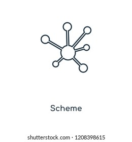 Scheme concept line icon. Linear Scheme concept outline symbol design. This simple element illustration can be used for web and mobile UI/UX.