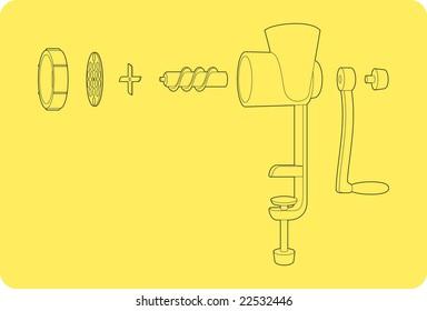 a scheme of old meat chopper
