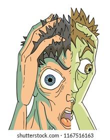Schizophrenia man expression