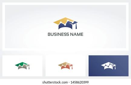 Scholar Graduation Hat Cap Chart Logo