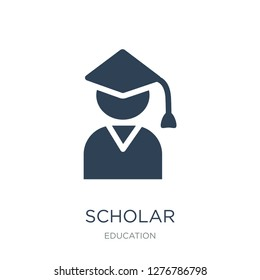 scholar icon vector on white background, scholar trendy filled icons from Education collection, scholar vector illustration