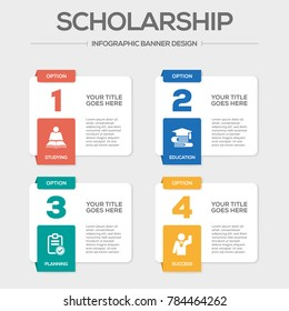 Scholarship Infographic Icons