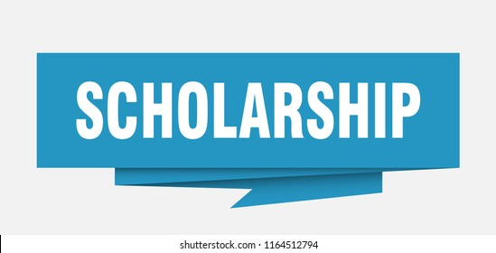 scholarship sign. scholarship paper origami speech bubble. scholarship tag. scholarship banner