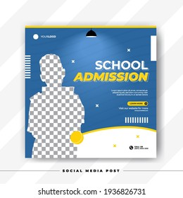 School admission or back to shcool social media post template
