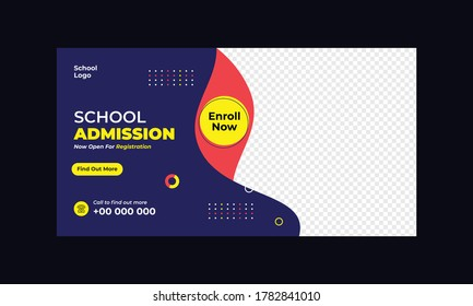 School admission Promotion Banner Template