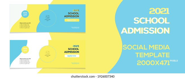 School admission social media Template post banner template.