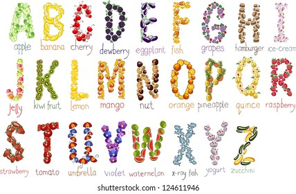 school alphabetical letters with hand drawn doodle font