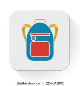 school bag icon. Flat illustration of school bag vector icon for education - school education icon