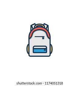 School Bag Vector Icon