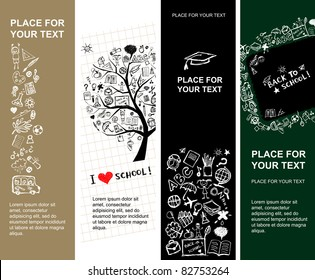 School banners design with place for your text