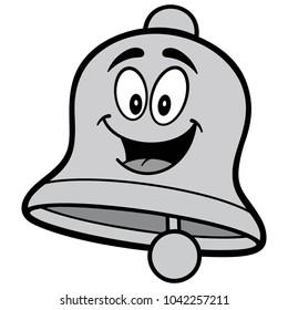 School Bell Cartoon Illustration - A vector cartoon illustration of a School Bell mascot concept.