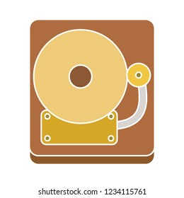 school bell isolated vector - door ring illustration sign . jingle sound sign symbol