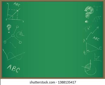 School board and chalk frame