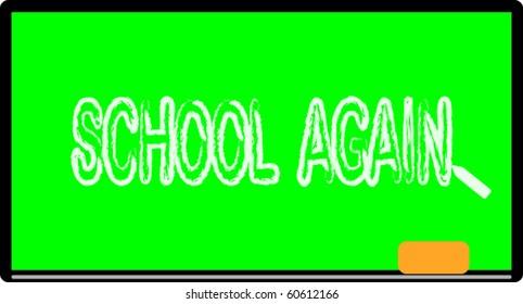 School board. Green school board.