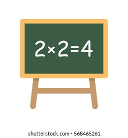 School board with Simple Equation. Vector Illustration on a white background