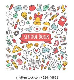 School book illustration for your design