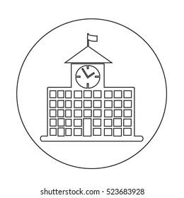 school building icon illustration design