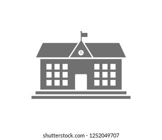 school building icon symbol vector