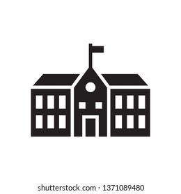 School building icon in trendy flat style design. Vector graphic illustration. School icon for website design, logo, and ui. Vector file. EPS 10.