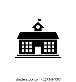 School Building icon vector. symbol for web site Computer and mobile.