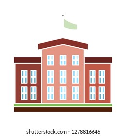 school building icon-university sign-school symbol-government-bank illustration-architectural vector-museum icon-house sign