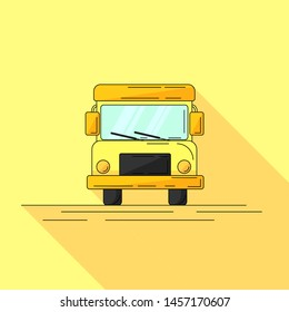 school bus in cartoon style. Vector illustration for web or design.