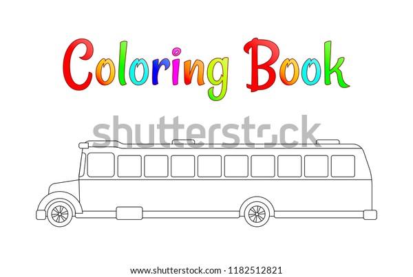 School Bus Coloring Page Back School Stock Vector (Royalty ...