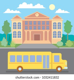 School bus. School. Education and science concept illustrations. Back to School. Vector Art.
