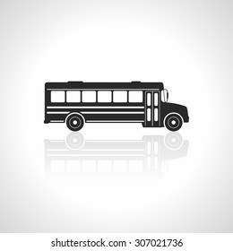 School bus icon. Illustration Vector