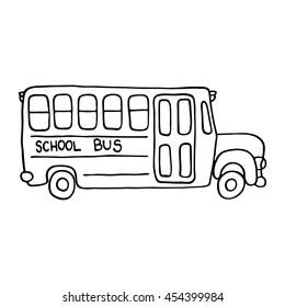 Silhouette School Bus Stock Vectors Images Vector Art