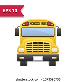 School Bus Icon. Professional, pixel-aligned icon in realistic colors.