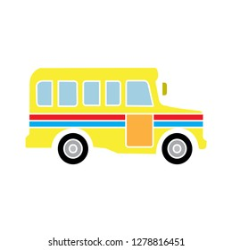 school bus icon- transportation symbol-truck illustration-schoolbus vector-automobile symbol