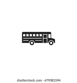 school bus icon vector isolated