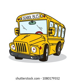 School bus illustration on a white background