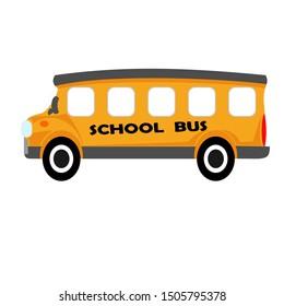 School bus isolated. Flat design icon vector illustration.