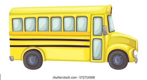 School bus long side view