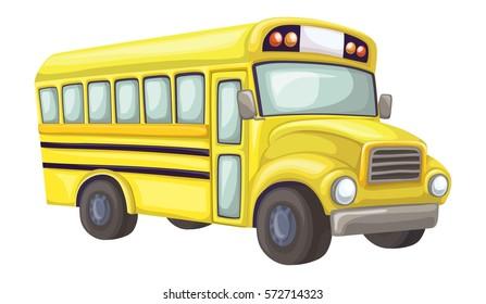 School bus perspective view