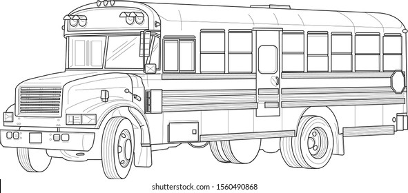 - Coloring Page School Bus Images, Stock Photos & Vectors Shutterstock