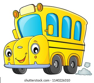 School bus thematics image 1 - eps10 vector illustration.