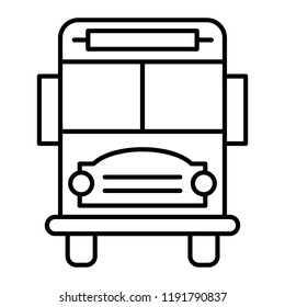 5ae959153f1 School bus thin line icon. Vehicle vector illustration isolated on white.  Transport outline style