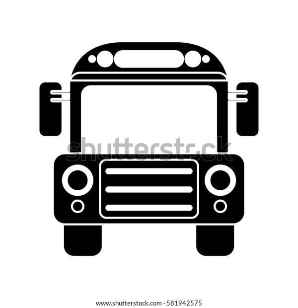 school bus transport design pictogram